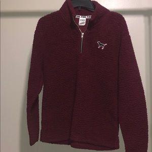 PINK Victoria's Secrets Sherpa pullover XS Sweater